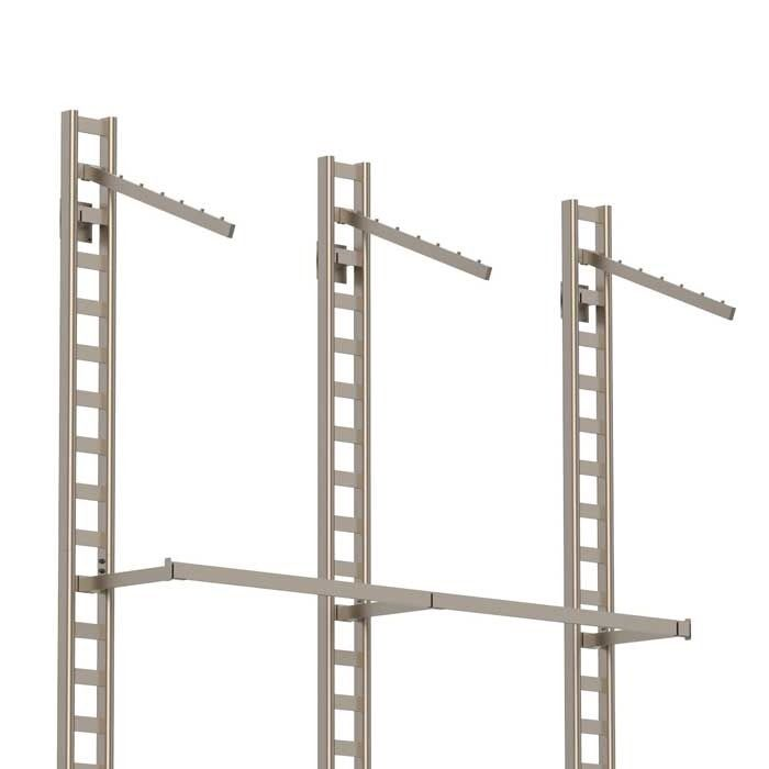 Wall Mounted Ladder Display Rack With Hang Rails Subastral